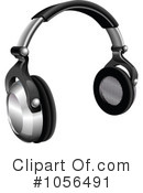 Royalty-Free (RF) Headphones Clipart Illustration #1056491