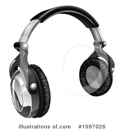 Headset Clipart #1097026 by AtStockIllustration