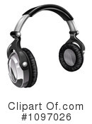 Headphones Clipart #1097026 by AtStockIllustration