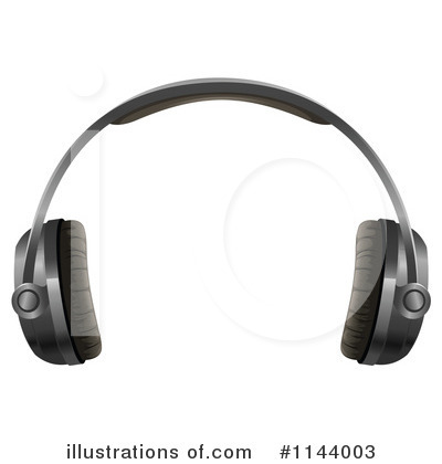 Headphones Clipart #1144003 by Graphics RF