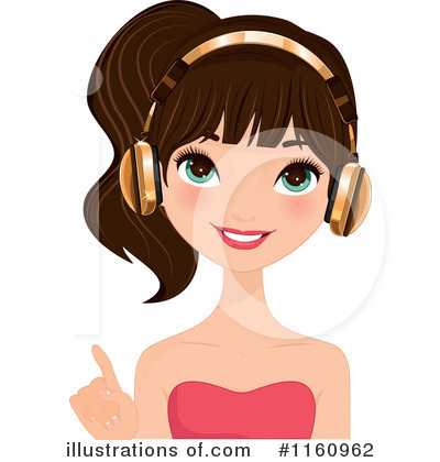 Headphones Clipart #1160962 by Melisende Vector