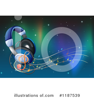 Headphones Clipart #1187539 by Graphics RF