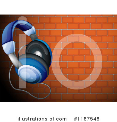 Royalty-Free (RF) Headphones Clipart Illustration by Graphics RF - Stock Sample #1187548