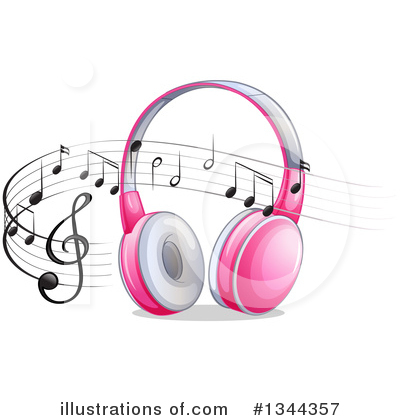 Headphones Clipart #1344357 by Graphics RF