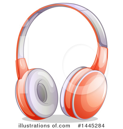 Headphones Clipart #1445284 by Graphics RF