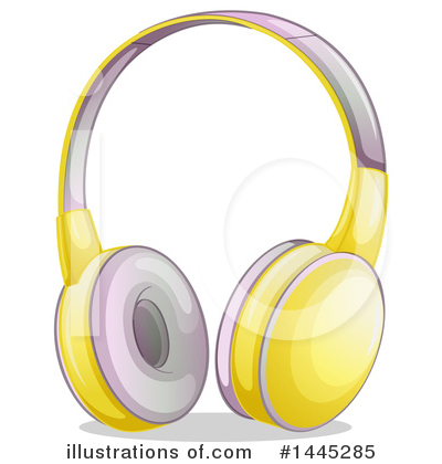 Headphones Clipart #1445285 by Graphics RF