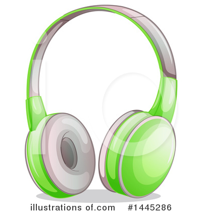 Headphones Clipart #1445286 by Graphics RF