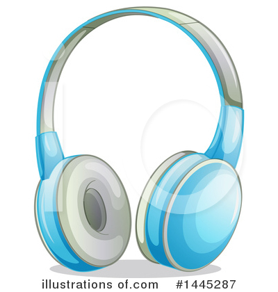 Headphones Clipart #1445287 by Graphics RF