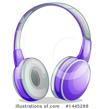 Headphones Clipart #1445288 by Graphics RF