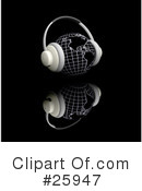 Headphones Clipart #25947 by KJ Pargeter