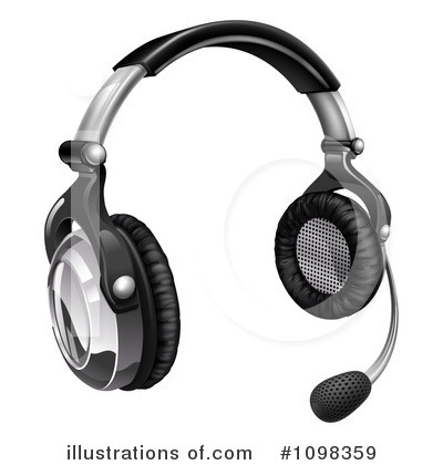 Royalty-Free (RF) Headset Clipart Illustration by AtStockIllustration - Stock Sample #1098359