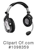 Royalty-Free (RF) Headset Clipart Illustration #1098359