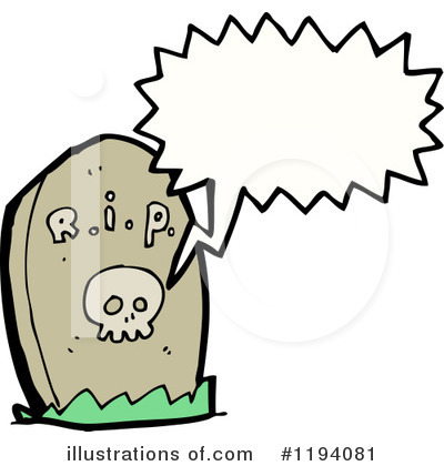 Royalty-Free (RF) Headstone Clipart Illustration by lineartestpilot - Stock Sample #1194081