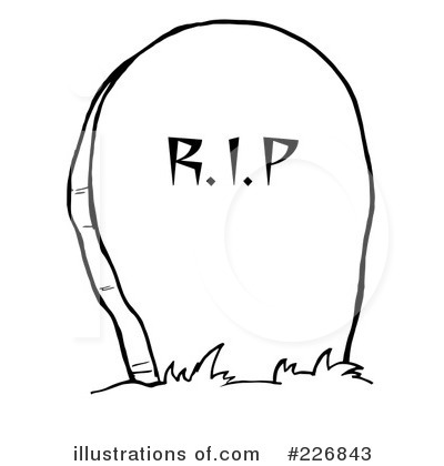 Royalty-Free (RF) Headstone Clipart Illustration by Hit Toon - Stock Sample #226843