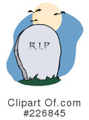 Royalty-Free (RF) Headstone Clipart Illustration #226845