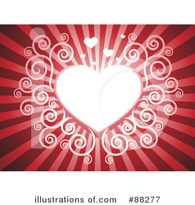 Royalty-Free (RF) Heart Background Clipart Illustration by Qiun - Stock Sample #88277