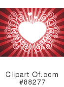 Royalty-Free (RF) Heart Background Clipart Illustration #88277