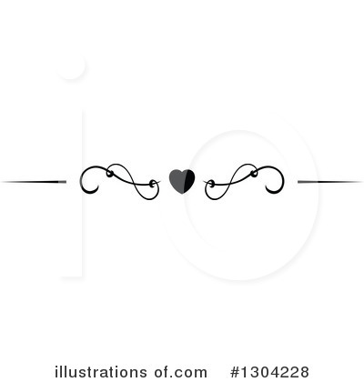 Heart Border Clipart #1304228 by Vector Tradition SM