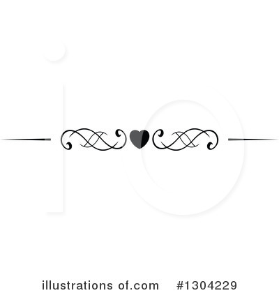 Heart Border Clipart #1304229 by Vector Tradition SM