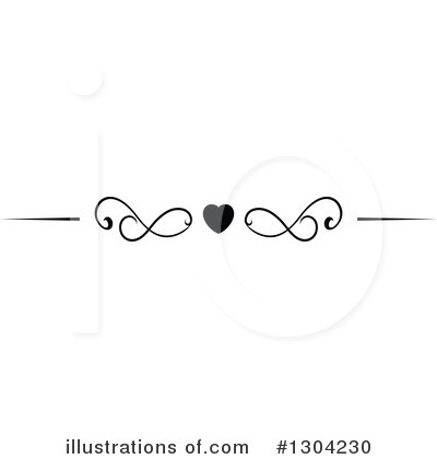 Heart Border Clipart #1304230 by Vector Tradition SM