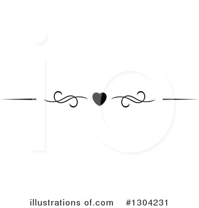 Heart Border Clipart #1304231 by Vector Tradition SM