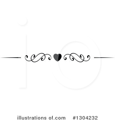 Heart Border Clipart #1304232 by Vector Tradition SM