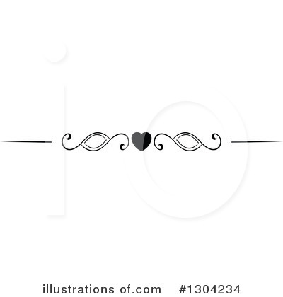 Heart Border Clipart #1304234 by Vector Tradition SM