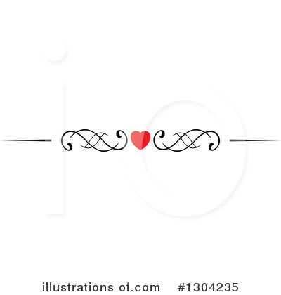 Heart Border Clipart #1304235 by Vector Tradition SM