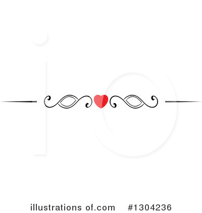 Heart Border Clipart #1304236 by Vector Tradition SM