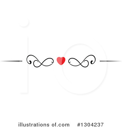Heart Border Clipart #1304237 by Vector Tradition SM
