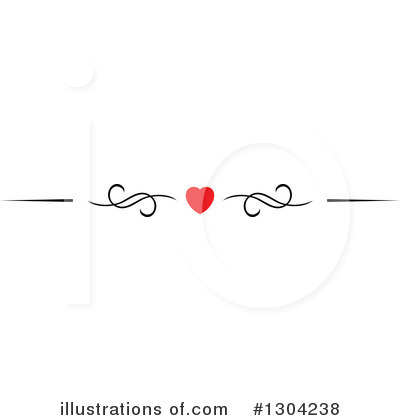Royalty-Free (RF) Heart Border Clipart Illustration by Vector Tradition SM - Stock Sample #1304238
