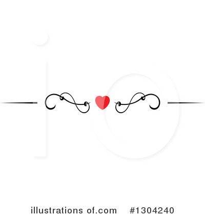 Heart Border Clipart #1304240 by Vector Tradition SM
