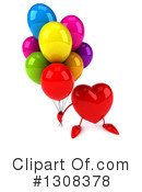 Heart Character Clipart #1308378 by Julos