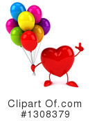 Heart Character Clipart #1308379 by Julos