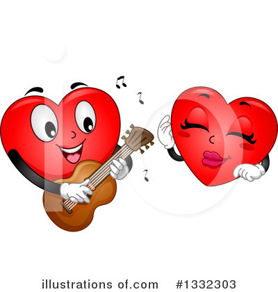 Heart Character Clipart #1332303 by BNP Design Studio