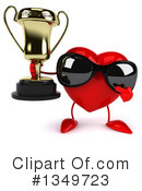 Royalty-Free (RF) Heart Character Clipart Illustration #1349723