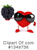 Royalty-Free (RF) Heart Character Clipart Illustration #1349736