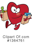 Heart Character Clipart #1364761 by toonaday