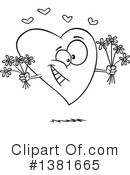 Royalty-Free (RF) Heart Character Clipart Illustration #1381665