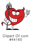 Royalty-Free (RF) heart character Clipart Illustration #44160