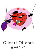 Heart Character Clipart #44171 by Hit Toon