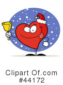 Royalty-Free (RF) Heart Character Clipart Illustration #44172