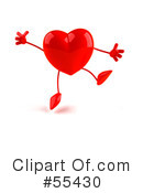 Heart Character Clipart #55430 by Julos