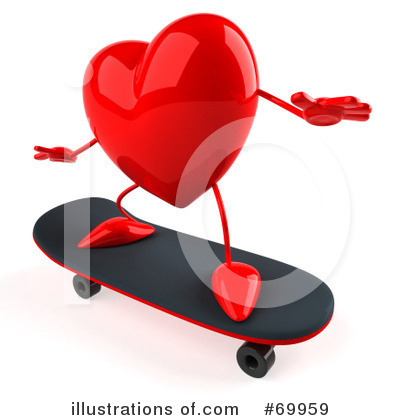 Heart Character Clipart #69959 by Julos