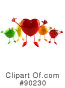 Royalty-Free (RF) heart character Clipart Illustration #90230