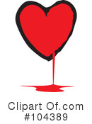 Heart Clipart #104389 by xunantunich