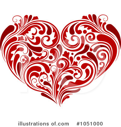 Royalty-Free (RF) Heart Clipart Illustration by BNP Design Studio - Stock Sample #1051000