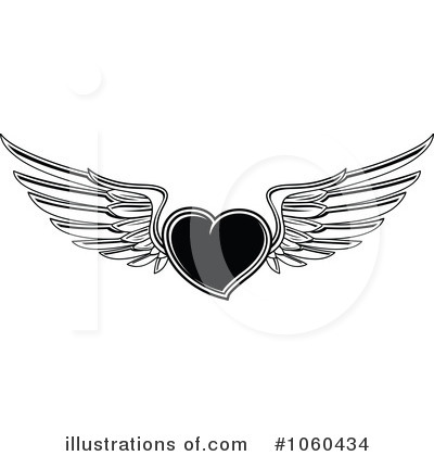 Winged Heart Clipart #1060434 by Vector Tradition SM