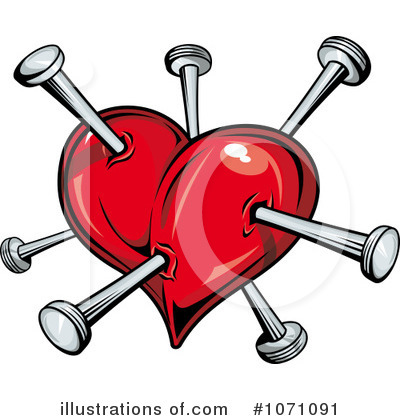 Broken Heart Clipart #1071091 by Vector Tradition SM