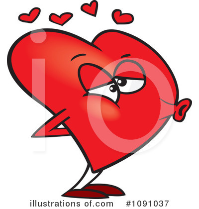 Heart Character Clipart #1091037 by toonaday